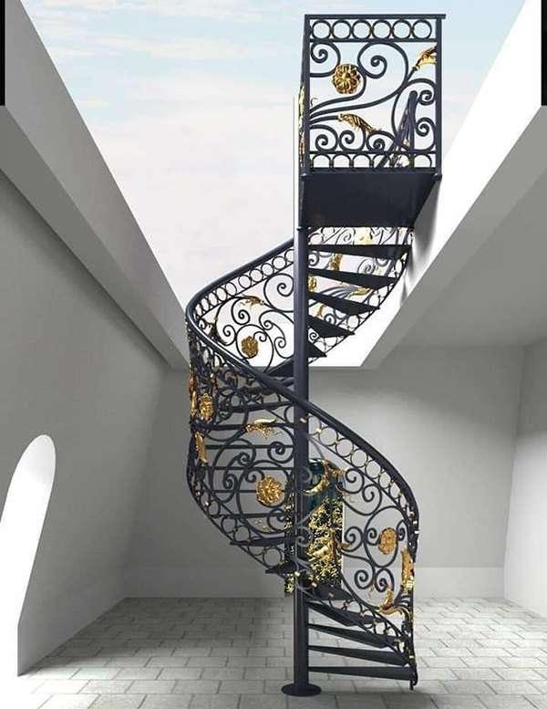 Mẫu cầu thang sắt nghệ thuật đẹp nhất
