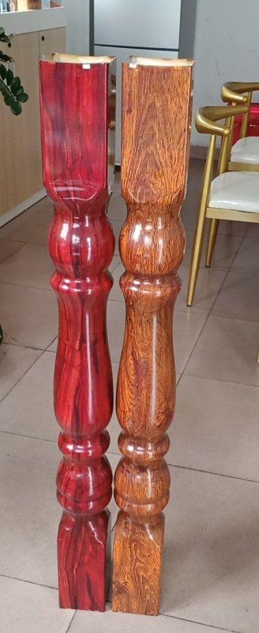Màu sắc cầu thang sắt thép vân gỗ